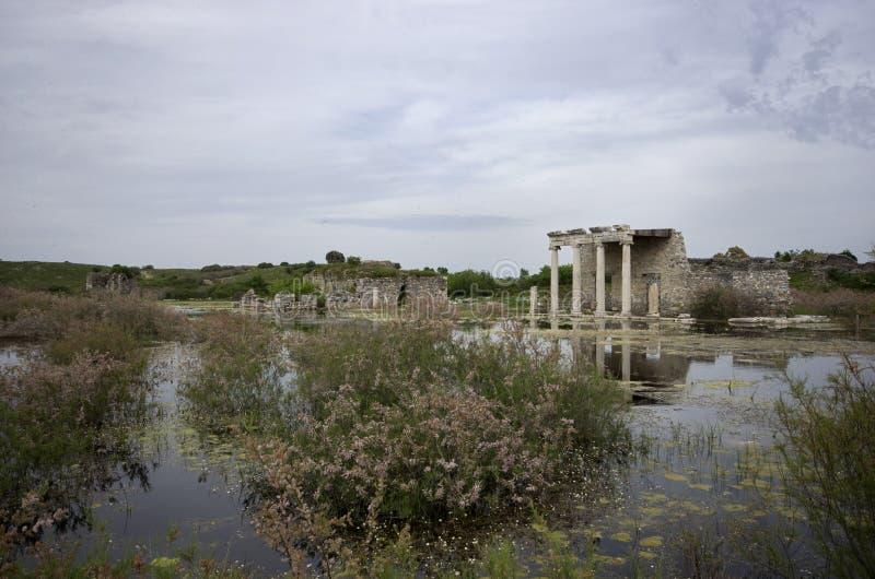 Висок Apollon в древнем городе Miletus, Турции стоковые фото