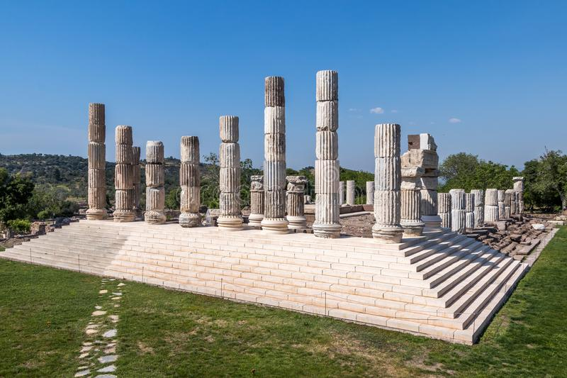 Висок Apollon в Assos стоковое фото rf