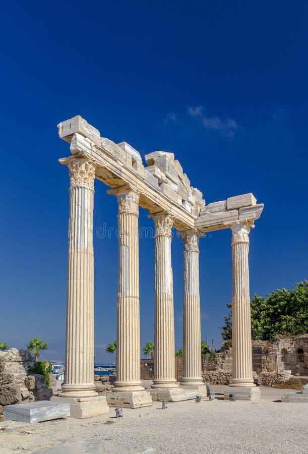 Висок Apollon, сторона, Турция стоковое изображение
