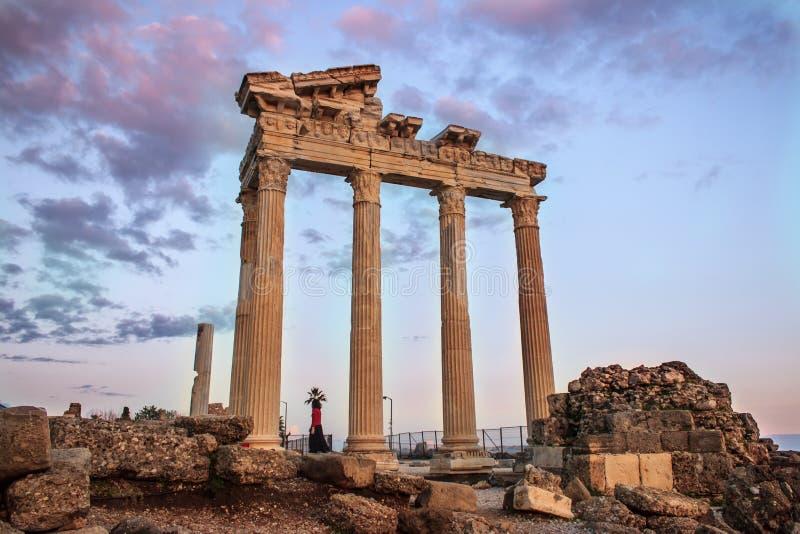 Висок Apollon стоковая фотография rf