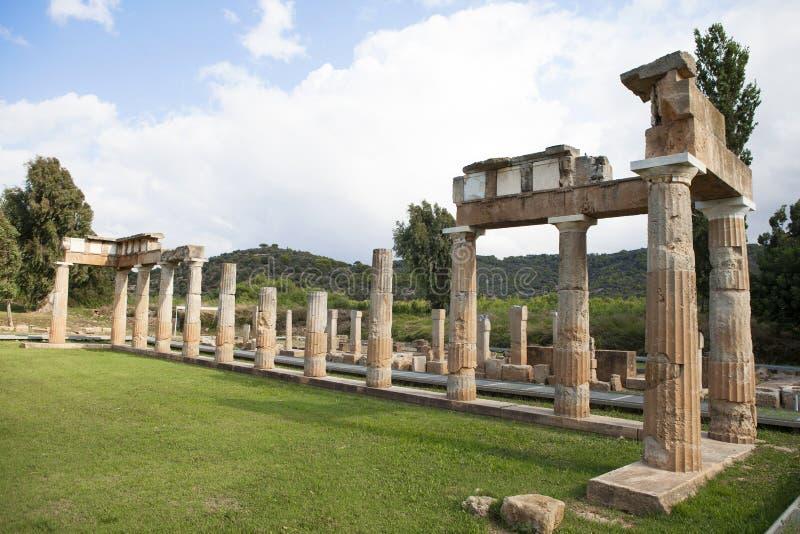 Висок Artemis на Греции стоковые изображения rf
