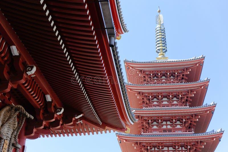 Висок Asakusa Kannon стоковая фотография rf