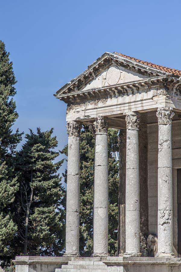 Висок Augustus стоковая фотография rf