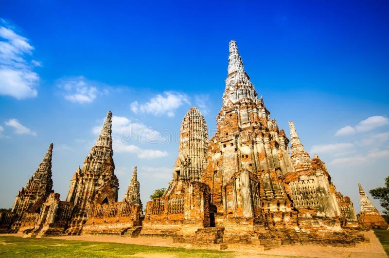 Висок Ayutthaya и историческое место в Таиланде стоковые фотографии rf