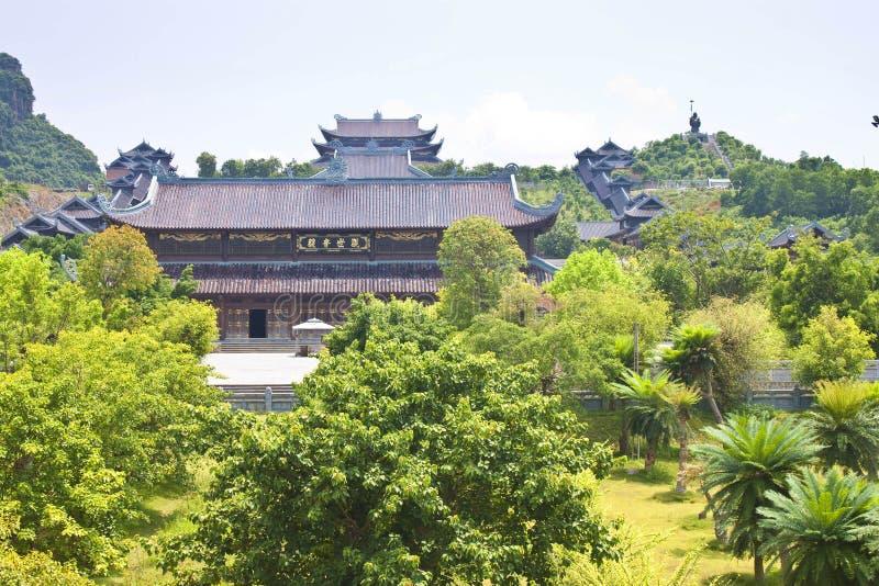 Висок Bai Dinh стоковое изображение