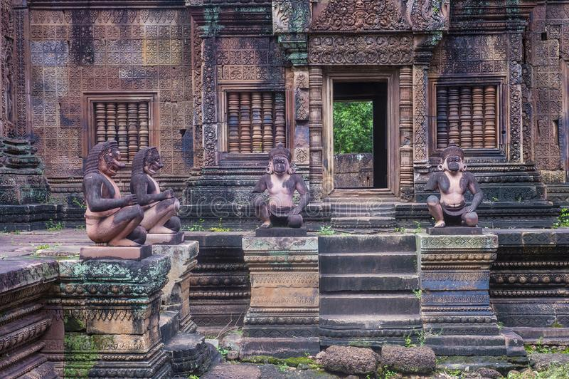 Висок Banteay Srei в Камбодже стоковые изображения