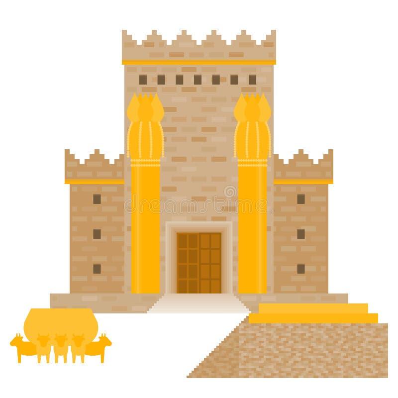 Висок Beit HaMikdash ` s короля Solomon в древнееврейском имени бесплатная иллюстрация
