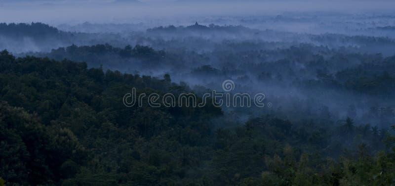 Висок Borobudur в утре стоковое изображение rf