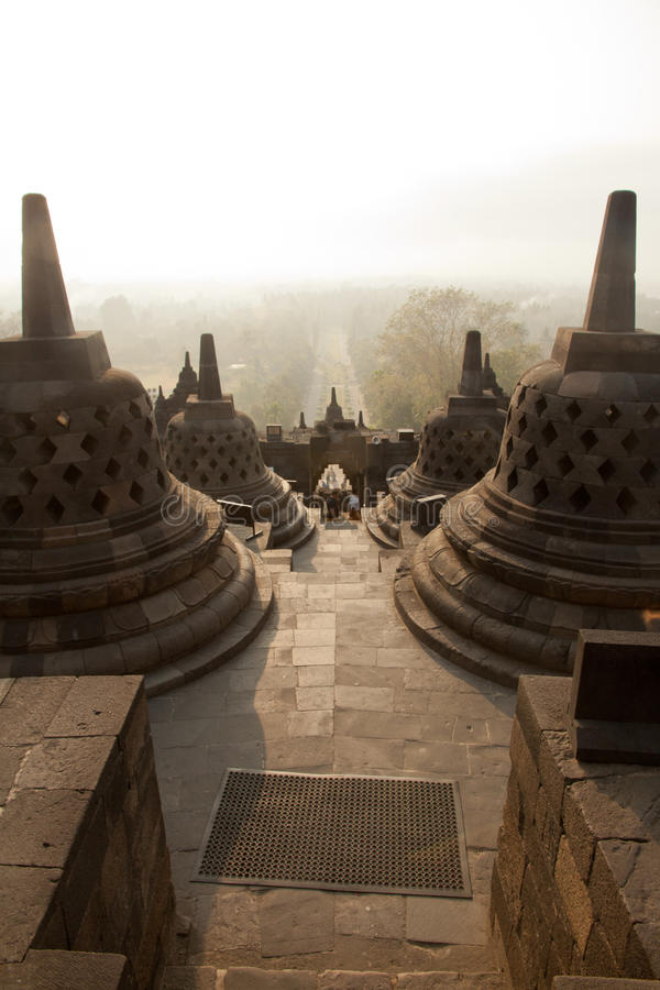Висок Borobudur, остров Ява, Индонезия стоковое изображение rf