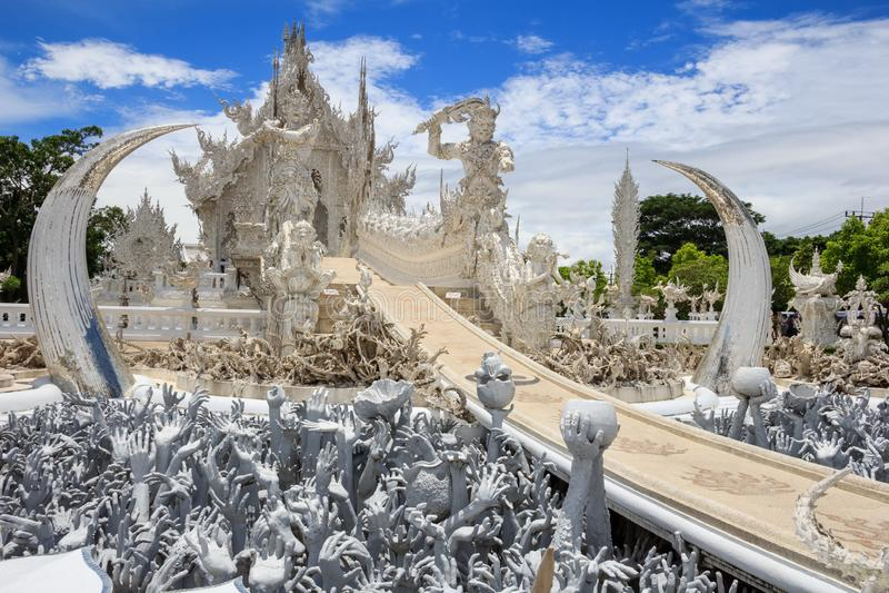 Висок Chiang Rai Таиланд Wat Rong Khun стоковая фотография