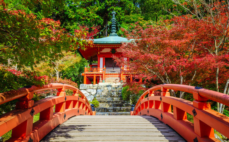 Висок Daigoji, Киото, Япония стоковая фотография rf