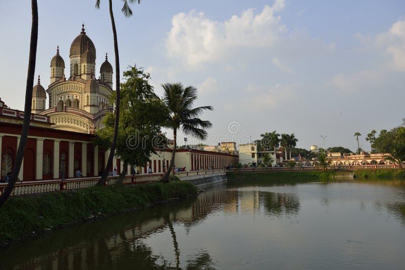 Висок Dakshineswar Kali, Kolkata, Индия стоковое изображение rf