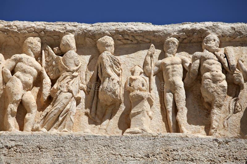 висок ephesus deail hadrian стоковое изображение rf