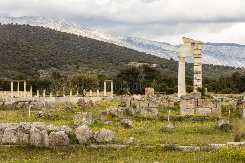 Висок Epidaurus, Греции стоковое изображение rf