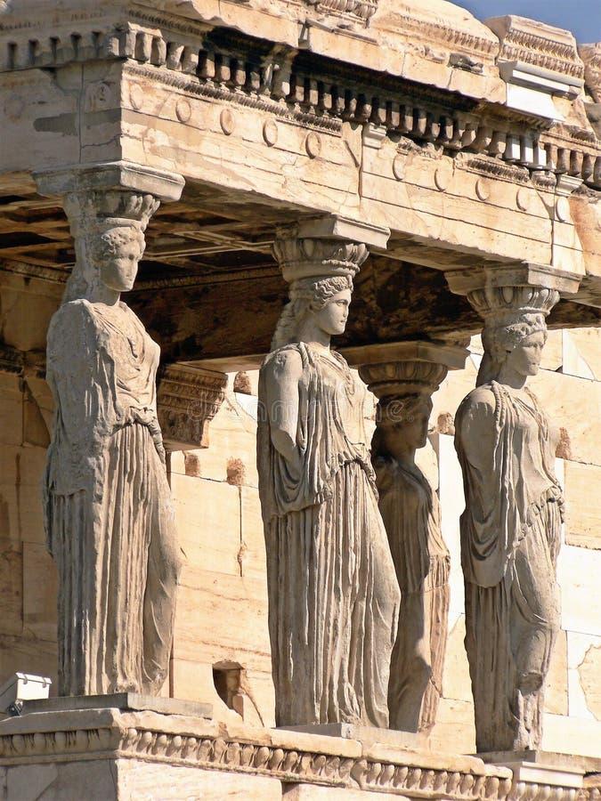 Висок Erechtheion в акрополе Афина, Греции стоковое фото