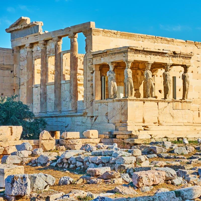 Висок Erechtheion в Афина стоковые изображения rf