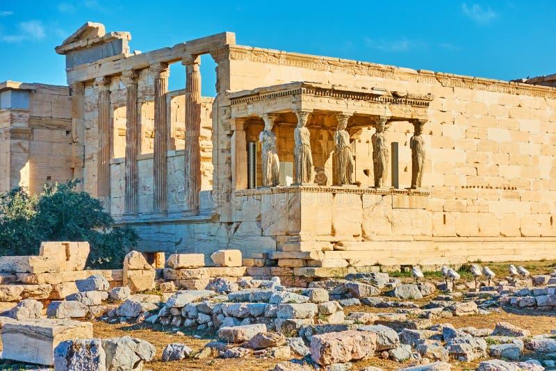 Висок Erechtheion в Афина стоковые фото