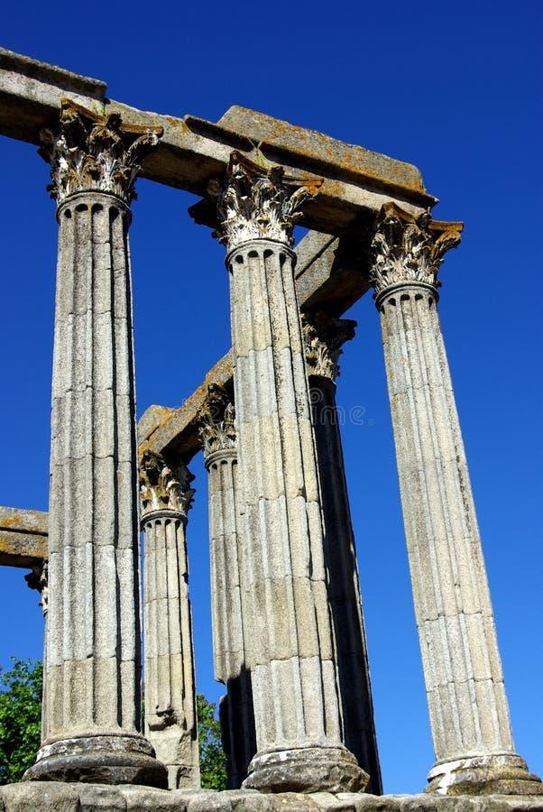 висок evora римский стоковая фотография rf