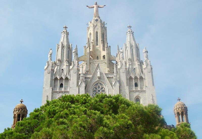 Висок Expiatori del Sagrat Cor - Барселона стоковое изображение