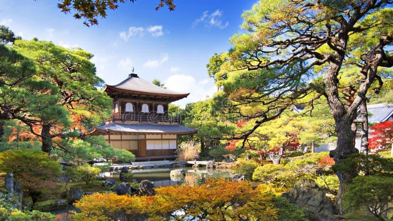 Висок Ginkaku-ji в Киото стоковые фото