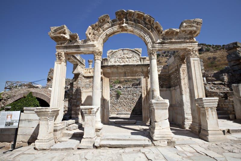 Висок Hadrian, Ephesus, Izmir, Турция стоковые фото