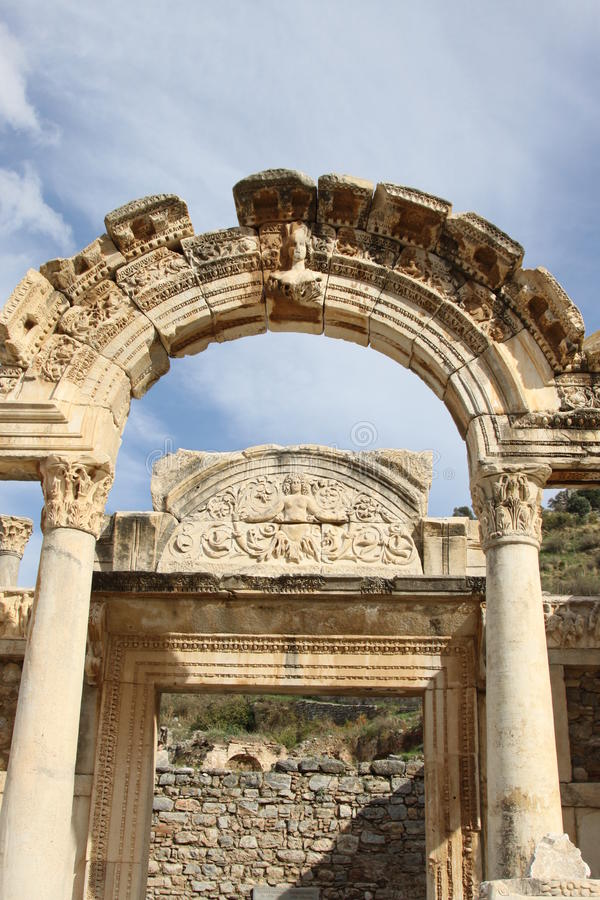 висок Hadrianus Ephesus Стоковая Фотография RF