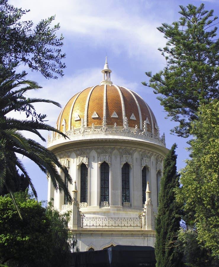 висок haifa bahai исторический стоковая фотография