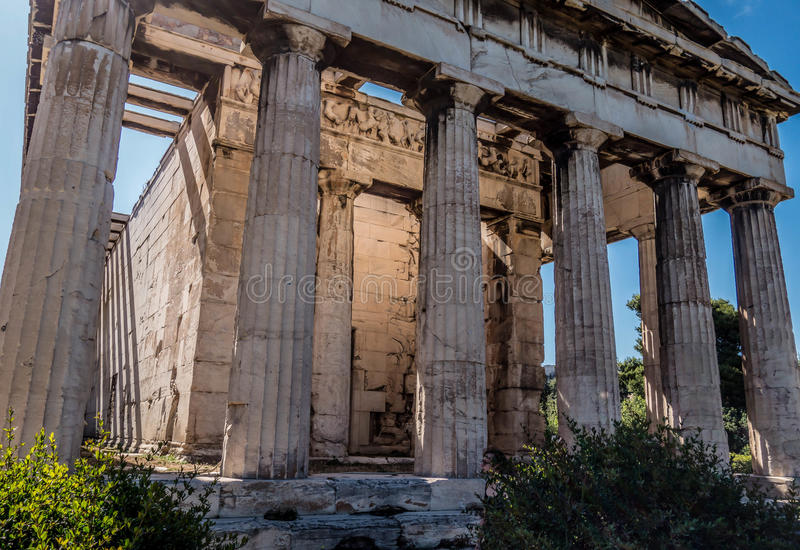 висок hephaestus athens Греции стоковая фотография