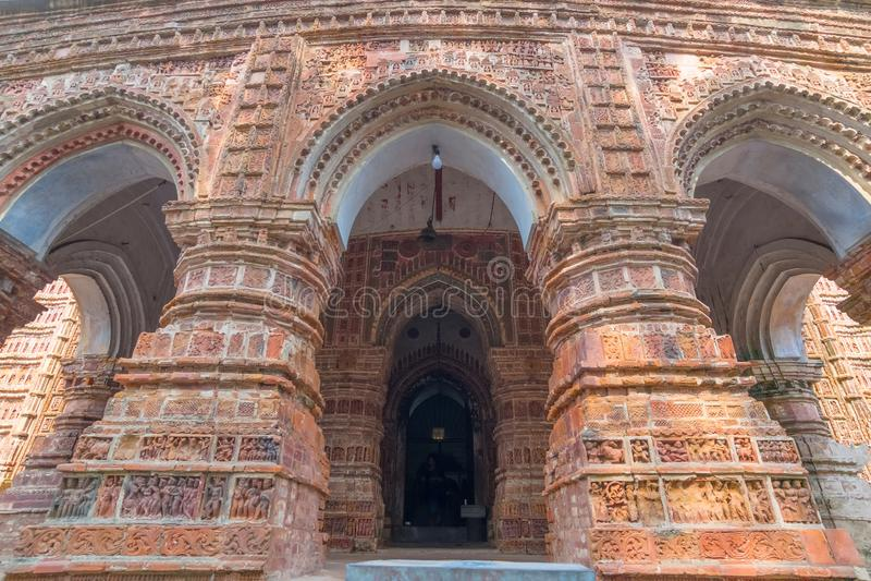Висок Kalna, западная Бенгалия Krishna Chandra, Индия стоковое изображение