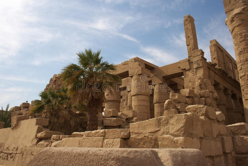 Висок Karnak в Египете стоковые изображения