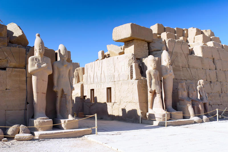 Висок Karnak, Луксор, Египет. стоковая фотография rf