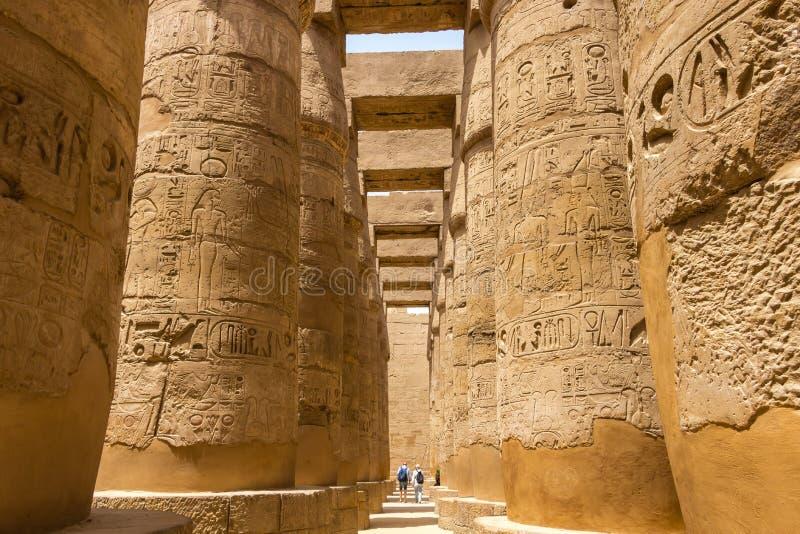 Висок Karnak - Hypostyle Hall в Луксоре, Египте стоковая фотография rf