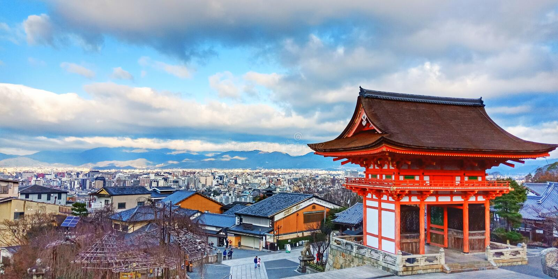 Висок Kiyomizu стоковое фото rf