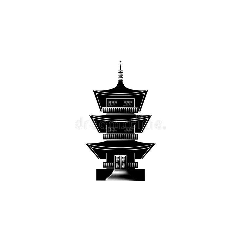 Висок Kofuku-Dzi в Японии japanese temple бесплатная иллюстрация