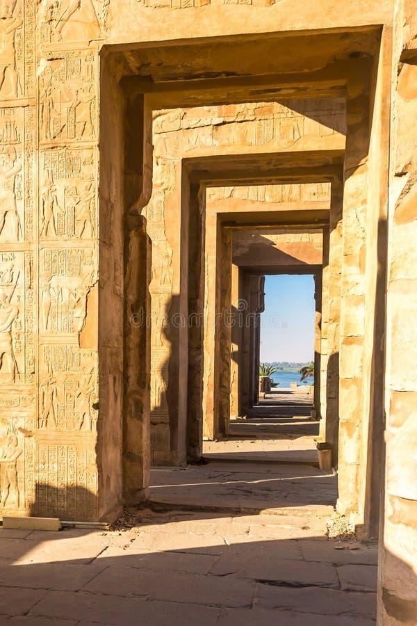 Висок kom Ombo, расположенный в Асуане, Египет стоковое фото rf