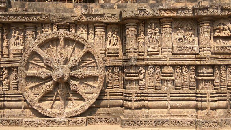 Висок Konark Солнця - архитектурноакустическая красота Индии стоковая фотография rf