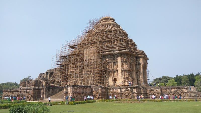 Висок Konark Солнця - архитектурноакустическая красота Индии стоковое фото