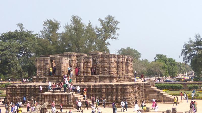 Висок Konark Солнця - архитектурноакустическая красота Индии стоковые изображения rf