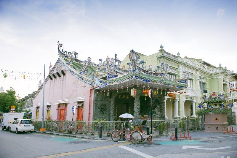 Висок Kongsi япа, китайский висок, который расположен в армянской улице, городок Джордж, Penang, Малайзия стоковые изображения rf