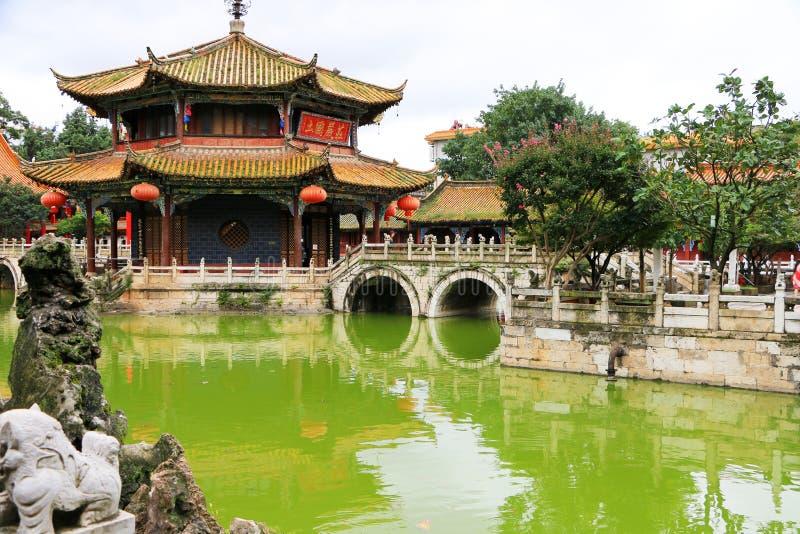 Висок Kunming Yuantong, Юньнань, Китай стоковые изображения
