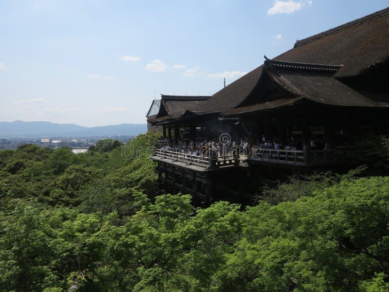 Висок Kyomizu, Киото, Япония стоковое изображение rf