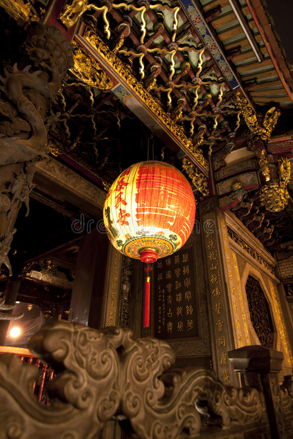 Висок Longshan в Тайвань стоковая фотография