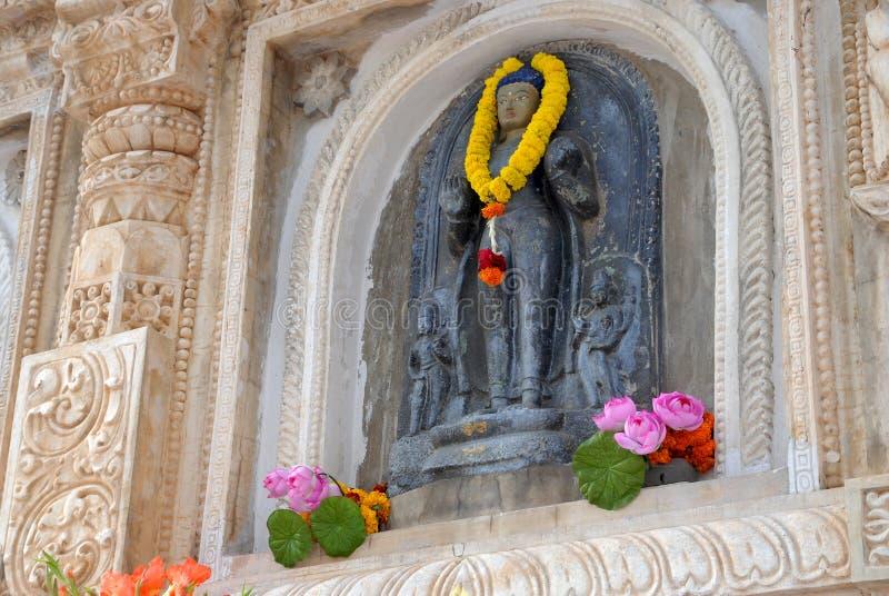 Висок Maha Bodhi, Bodh Gaya, Бихар, Индия стоковые изображения rf