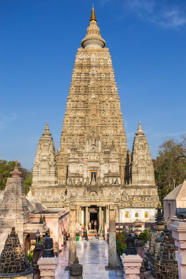 Висок Mahabodhi, gaya bodh, Индия стоковое фото
