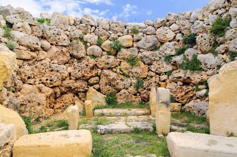 висок malta gozo ggantia megalithic стоковое изображение rf