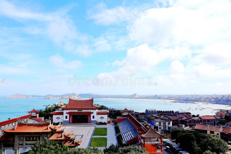 Висок Mazu, висок Tianhou, бог моря в Китае стоковое фото
