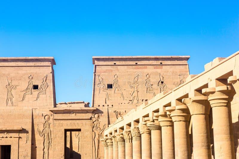 Висок Philae в Асуане на Ниле в Египте стоковое фото rf