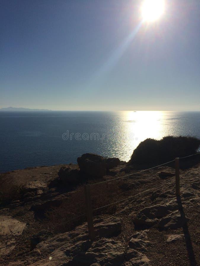 Висок Poseidon Афин стоковые фотографии rf