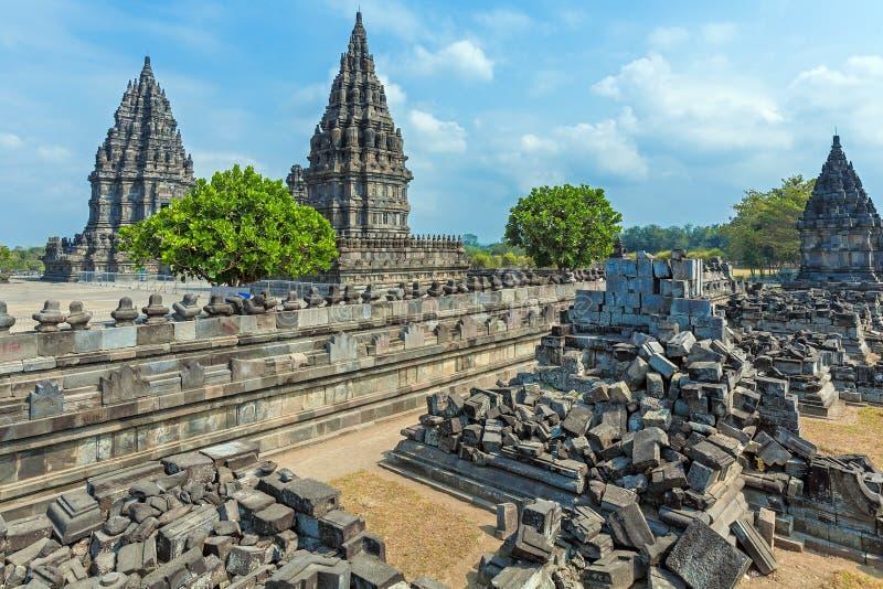 Висок Prambanan индусский, Yogyakarta, Ява стоковая фотография rf