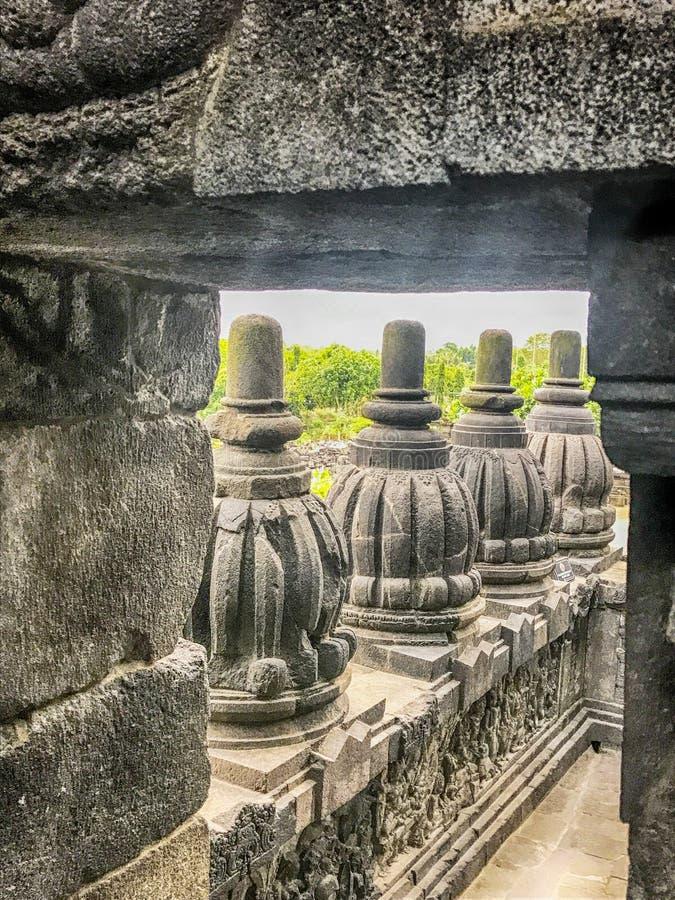 Висок Prambanan около Yogyakarta на острове Ява, Индонезии стоковые фотографии rf